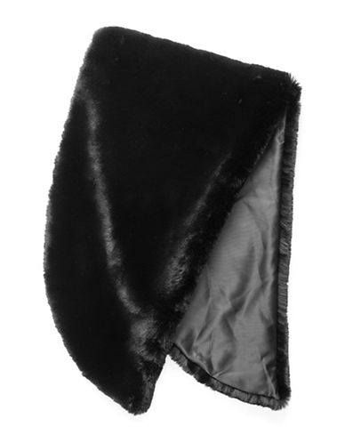 Vince Camuto Faux Fur Stole-BLACK-One Size