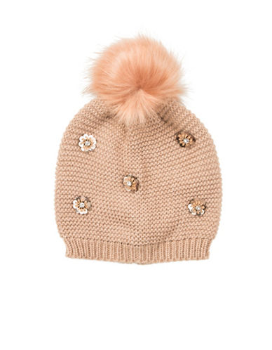 Collection 18 Dotty Floral Beanie-ROSE-One Size