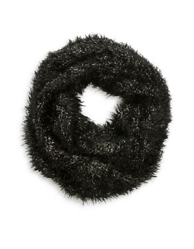 Collection 18 Monster Glam Loop Scarf-BLACK-One Size