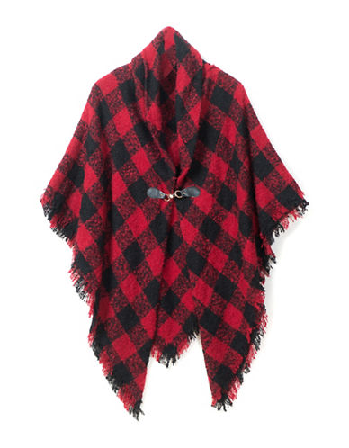Collection 18 Buffalo Check Jacket-RED-One Size
