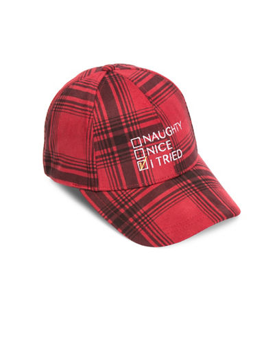 Collection 18 Naughty, Nice, I Tried Baseball Cap-RED-One Size