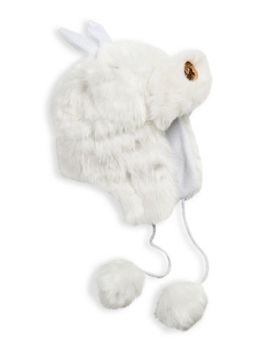 Collection 18 Reindeer Faux Fur Trapper Hat-WHITE-One Size