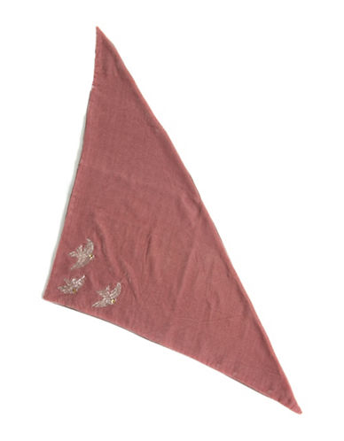 Collection 18 Garden Sparrow Velvet Triangle Bandana-TEA ROSE-One Size