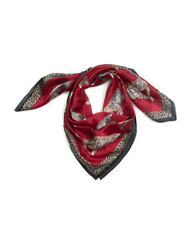 Collection 18 Caturday Printed Scarf-RED-One Size