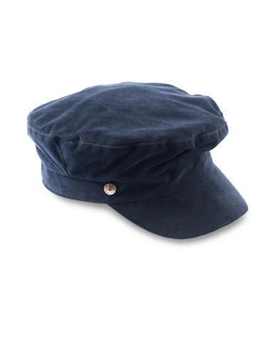 Bcbgeneration VelveT-Shirtn Baker Boy Cap-MARINE-One Size