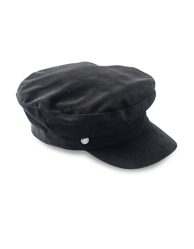 Bcbgeneration VelveT-Shirtn Baker Boy Cap-BLACK-One Size