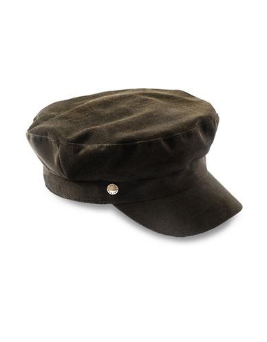 Bcbgeneration VelveT-Shirtn Baker Boy Cap-OLIVE-One Size