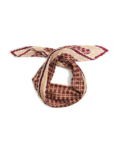 Vince Camuto Silk Geo Print Scarf-RED-One Size