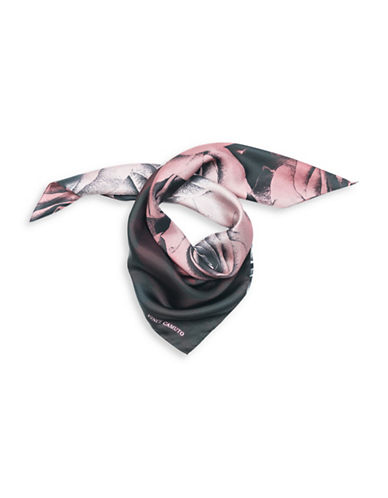 Vince Camuto Dipped Roses Silk Square Scarf-MULTI-One Size