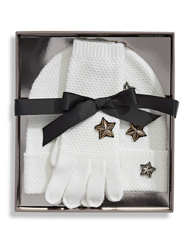 Bcbgeneration Two-Piece Gloves and Toque Set-IVORY-One Size
