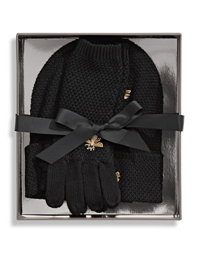 Bcbgeneration Two-Piece Gloves and Beanie Set-BLACK-One Size