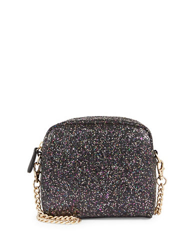Design Lab Lord & Taylor Velvet Chain Crossbody Bag-BLACK-One Size
