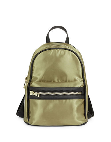 Design Lab Lord & Taylor Classic Mini Backpack-OLIVE BLACK-One Size