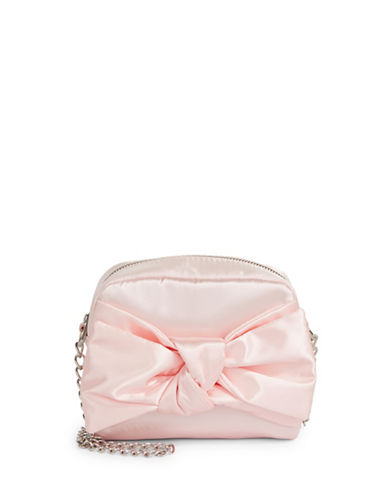 Design Lab Lord & Taylor Satin Bow Crossbody Bag-BLUSH-One Size