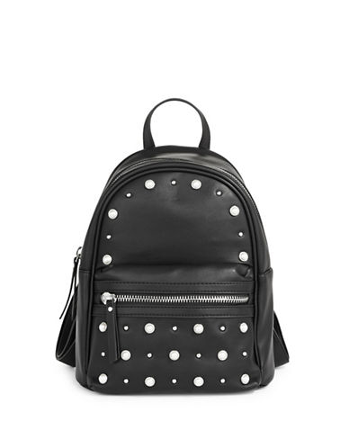Design Lab Lord & Taylor Embellished Mini Backpack-BLACK-One Size