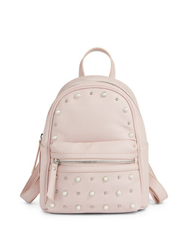 Design Lab Lord & Taylor Embellished Mini Backpack-BLUSH-One Size