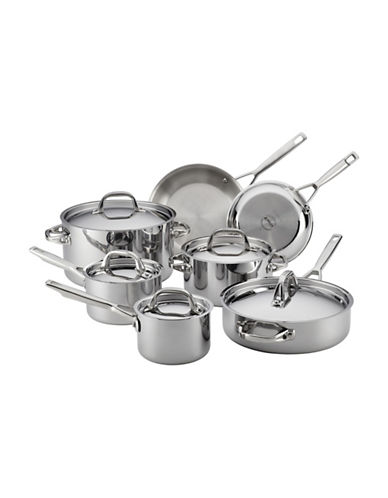 Anolon 12-Piece Stainless Steel Cookware Set-STAINLESS STEEL-One Size