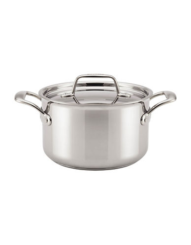 Breville Thermal Pro Tri-Ply Stainless Steel Sauce Pot-STAINLESS STEEL-4QT