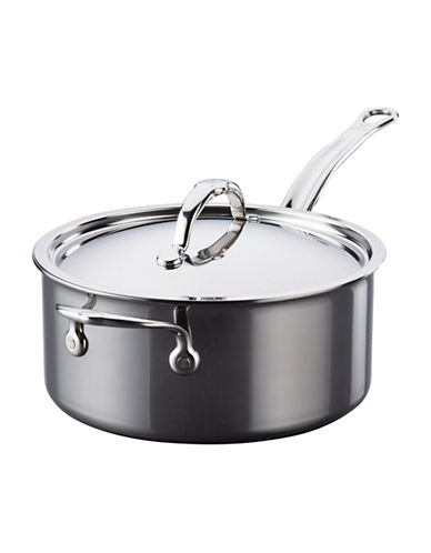 Hestan 3-Ply 4-Quart Stainless Steel Covered Saucepan-BLACK-One Size