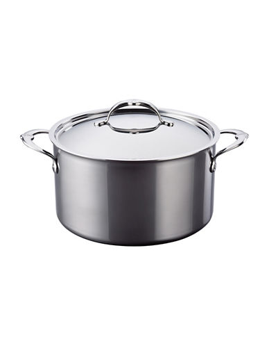 Hestan 3-Ply 8-Quart Stainless Steel Covered Stockpot-BLACK-One Size