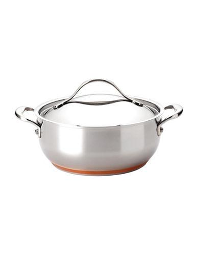 Anolon Nouvelle Copper 4-Quart Covered Chef Casserole-STAINLESS STEEL-4QT