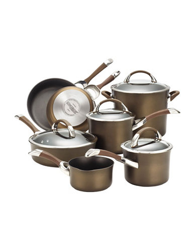 Circulon Circulon Symmetry 11-Piece Cookware Set - Induction Ready-CHOCOLATE-One Size