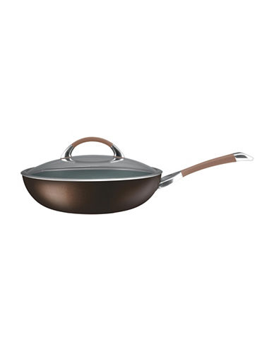 Circulon Symmetry 12-Inch Hard Anodized Essential Pan with Cover-CHOCOLATE-12