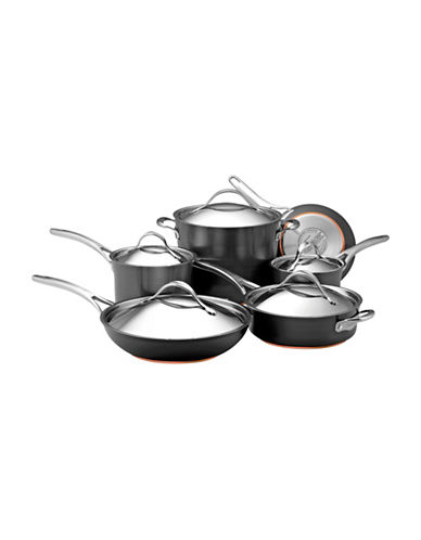 Anolon Nouvelle Copper 11-Piece Hard Anodized Cookware Set-GREY-One Size