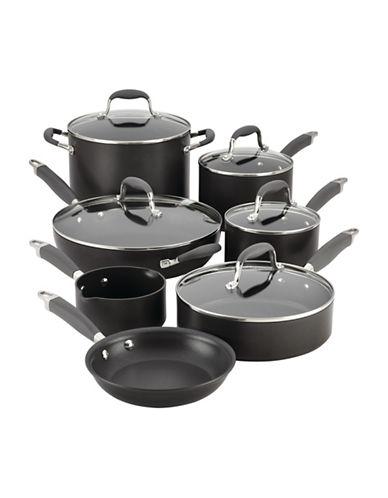 Anolon Advanced 12-Piece Hard-Anodized Cookware Set-BLACK-One Size