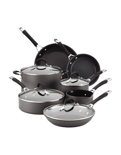 Circulon Circulon Momentum Hard Anodized 11-Piece Cookware Set-GREY-One Size