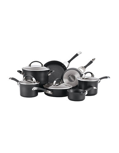 Circulon Symmetry 11-Piece Hard Anodized Cookware Set-BLACK-One Size