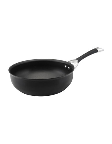 Circulon Symmetry 4.5-Quart Hard Anodized Open Chef Pan-BLACK-One Size
