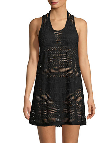 J Valdi T-Back Tank Dress-BLACK-X-Large