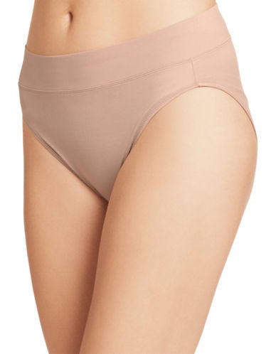 Warner'S No Pinch High Cut Briefs-BROWN-Medium