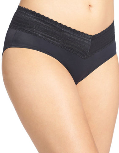 WarnerS No Pinch Lace Hipster Panty-BLACK-Small