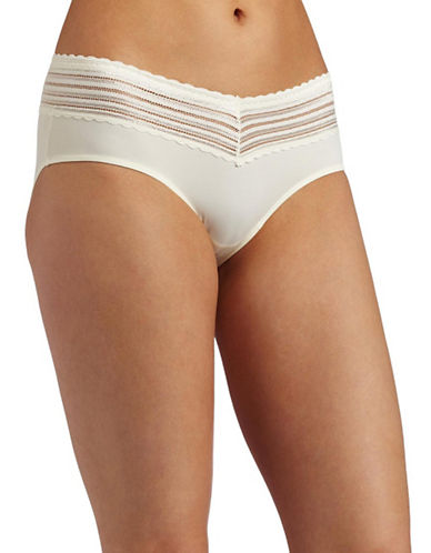 WarnerS No Pinch Lace Hipster Panty-WHITE-Large