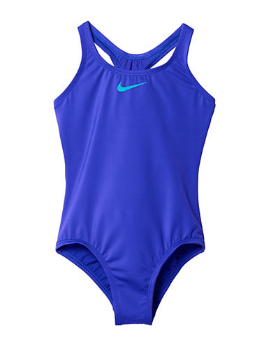 Nike Core Solids One-Piece Racerback Swimsuit-BLUE-10