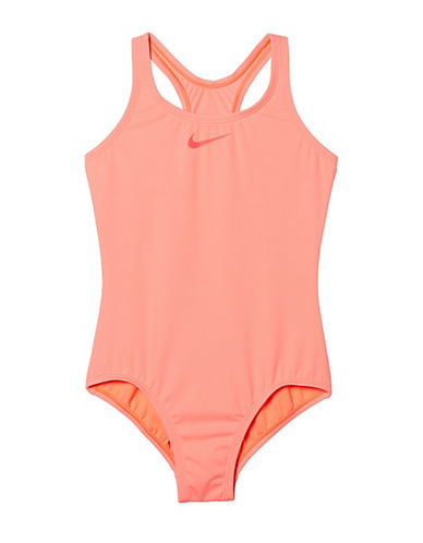 Nike Core Solids One-Piece Racerback Swimsuit-LAVA-10