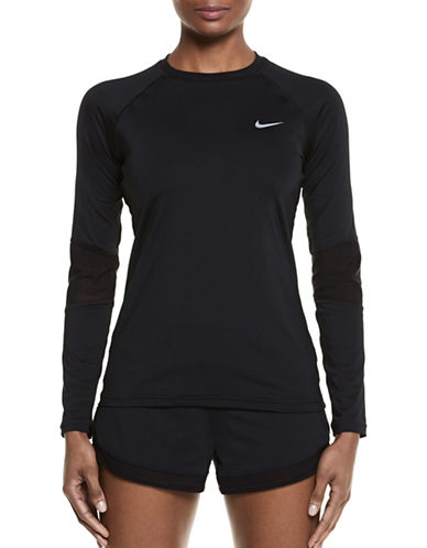 Nike Swim Long Sleeve Hydro Top-BLACK-Large 88828407_BLACK_Large