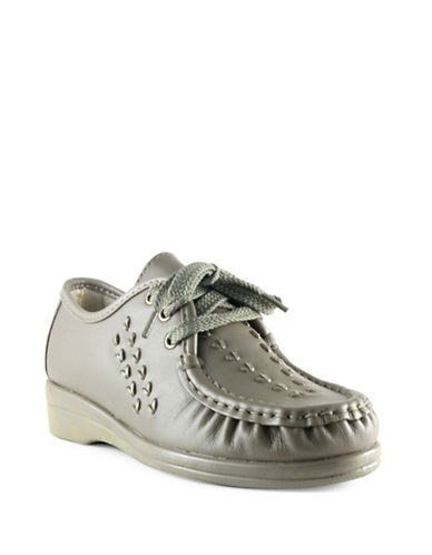 Softspots Bonnie Oxford Shoes-TAUPE-7.5