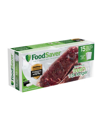 Foodsaver Twelve Gallon  Zipper Vacuum Sealer Bags-CLEAR-One Size