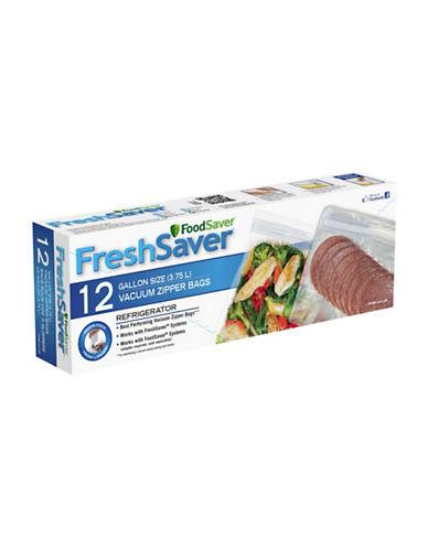 Foodsaver Twelve Gallon Zipper Vacuum Sealer Bags-CLEAR-One Size