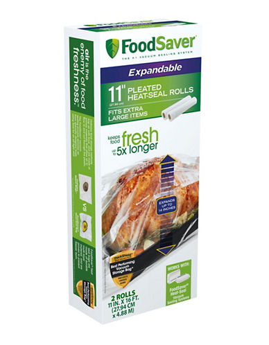 Foodsaver Pleated Heat-Seal Rolls-CLEAR-One Size