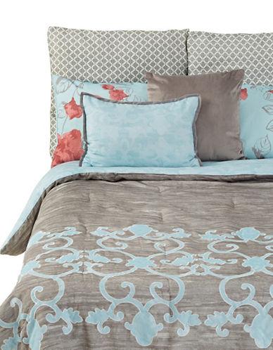 Martha Stewart Camille Seven-Piece Comforter Set-LIGHT BLUE-King