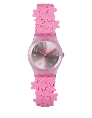 Swatch Action Heroes Collection Pink Loop Analog Strap Watch-PINK-One Size