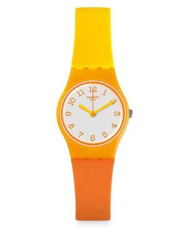 Swatch Action Heroes Collection Beach Dream Analog Strap Watch-ORANGE-One Size