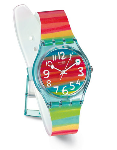 Swatch Color The Sky Plastic Strap Watch-MULTI-One Size