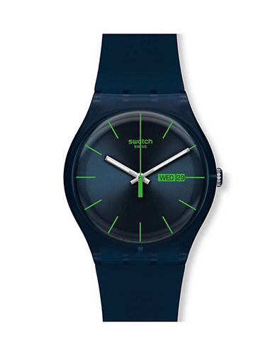 Swatch Blue Rebel Silicone Strap Watch-BLUE-One Size