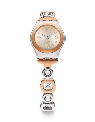 Swatch Ring Bling Crystal Two-Tone Stainless Steel Watch-