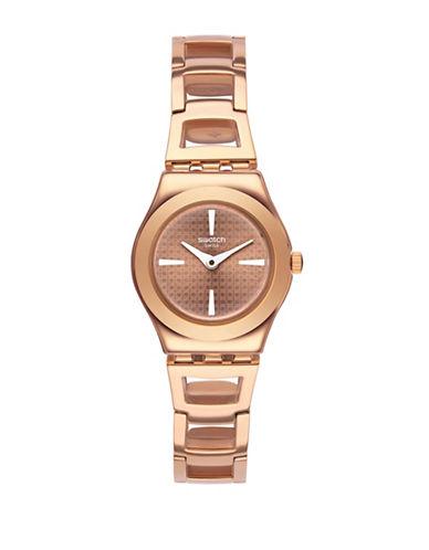 Swatch Analog Roseli Rose-Goldtone Bracelet Watch-ROSE GOLD-One Size
